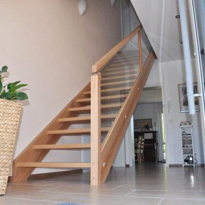 Wangentreppe Eingestemmt Treppenbau Leisen 0174