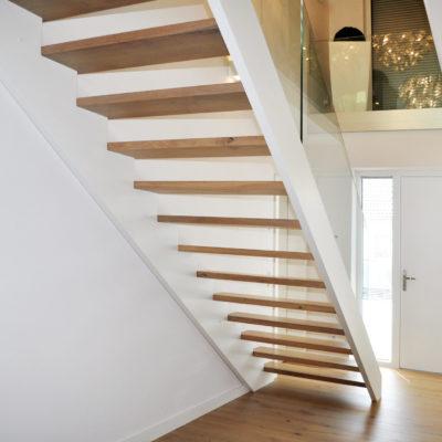 Frei Schwebende Holztreppe Gerade Treppe Kaufen Treppenbau